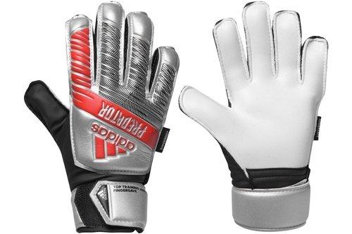 Predator Training Finger Save Glove Junior Silver/Black