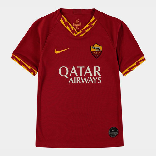 AS Roma 19/20 Kids Home S/S Football Shirt