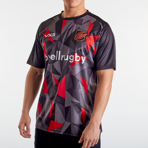 Dragons 2019/20 Warm Up Poly Rugby Training T-Shirt