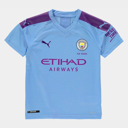 Manchester City 19/20 Kids Home S/S Football Shirt