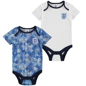England 1990 2 Pack Baby Body Suits