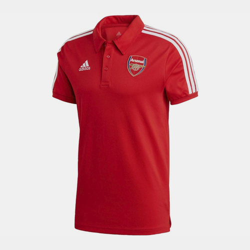 Arsenal Three Stripe Polo Shirt 20/21 Mens