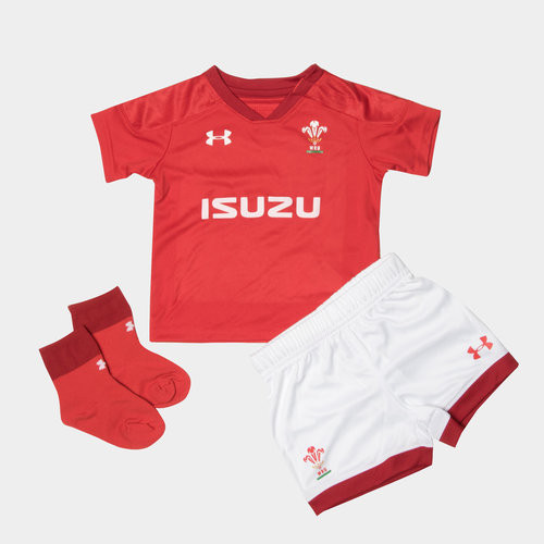 Wales WRU 2017//19 Infant Bodysuits 2 Pack Red//Black size 12-18M