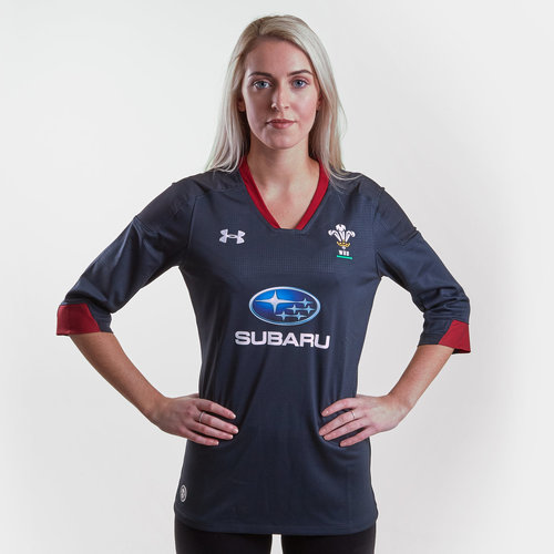 Wales WRU 2018/19 Ladies Alternate S/S Replica Shirt