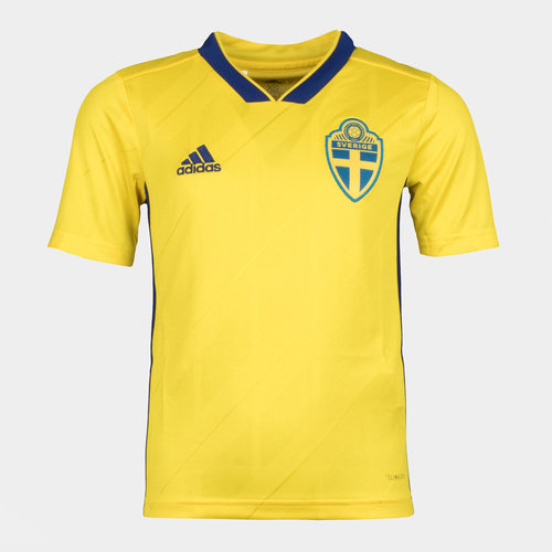 Sweden 2018 Youth Home S/S Replica Football Shirt