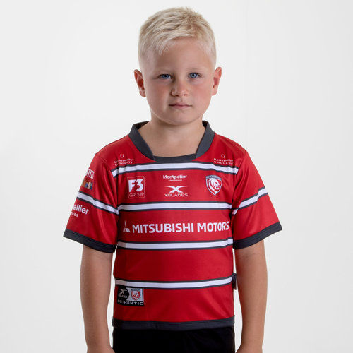 super popular 04df1 781a6 X Blades Gloucester 2018/19 Home Infant S/S Replica Rugby ...