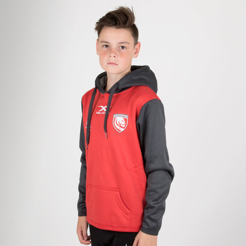 Gloucester 2018/19 Kids Overhead Hooded Rugby Sweat