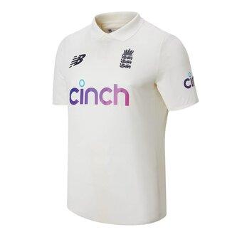 England Test Shirt Mens