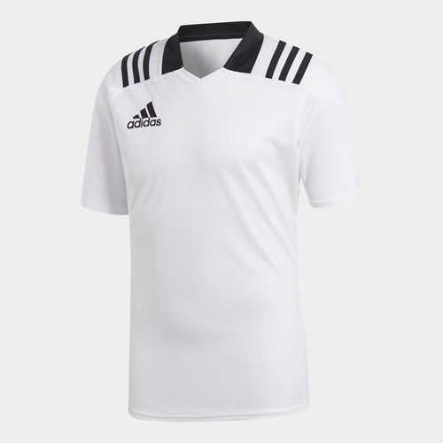 Team Wear 3 Stripe S/S Fitted Rugby Shirt