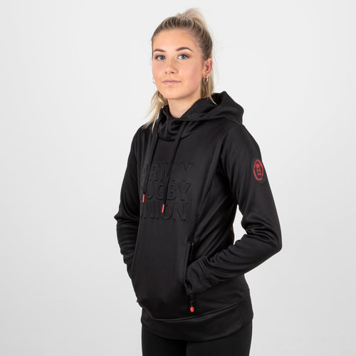 Army Rugby Union Ladies Embossed Impact Hooded Rugby Sweat