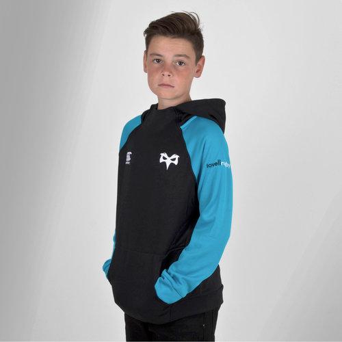Ospreys 2018/19 Kids Hybrid Hooded Rugby Sweat