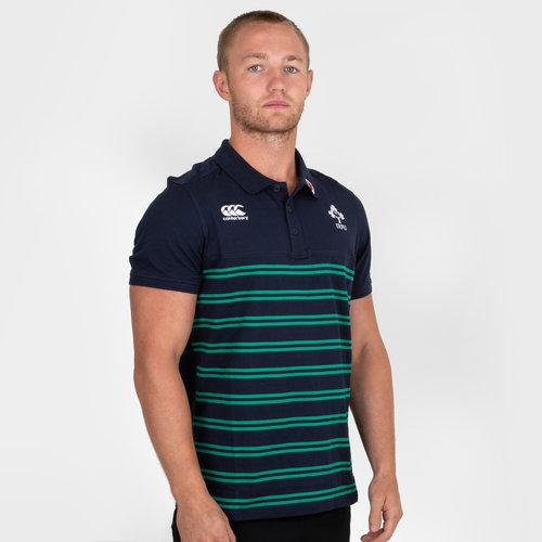 fbc72ff82ac Canterbury Ireland IRFU 2018/19 Cotton Stripe Rugby Polo Shirt, £15.00
