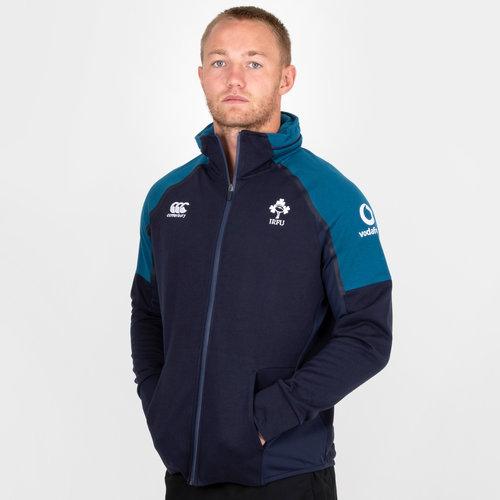 Ireland IRFU 2018/19 Hybrid Full Zip Hooded Rugby Sweat