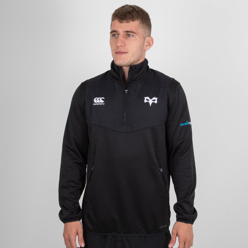 Ospreys 2018/19 Players 1/4 Zip Rugby Training Top
