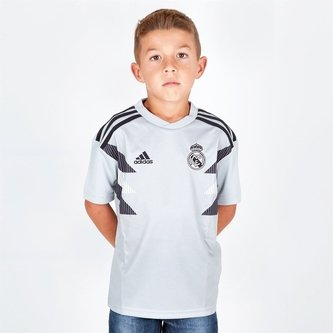 Real Madrid 18/19 Youth Pre-Match Football Training Shirt