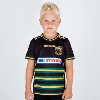 Northampton Saints 2018/19 Kids Home S/S Replica Rugby Shirt