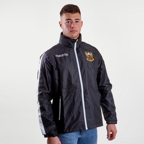 Northampton Saints 2018/19 Full Zip Shower Hooded Rugby Jacket