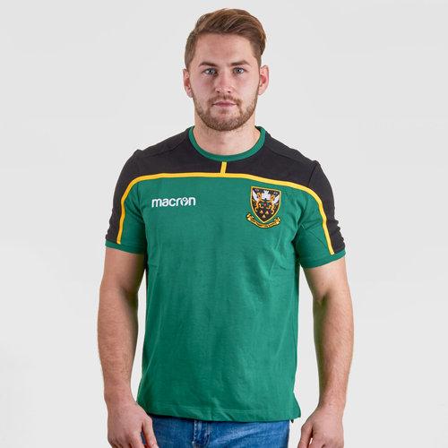 Northampton Saints 2018/19 Players Travel Rugby T-Shirt