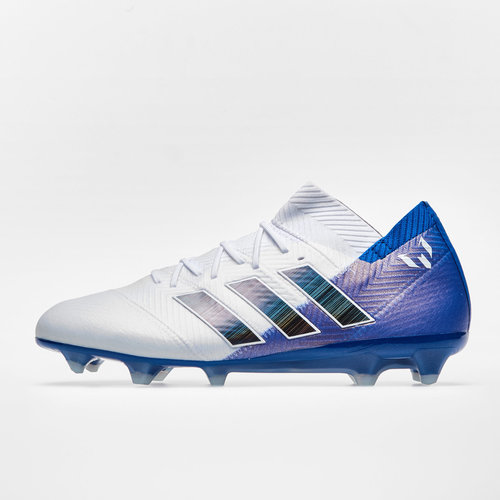 f8f3c7daf Nemeziz Messi 18.1 FG Football Boots. Footwear White/Core Black/Football  Blue