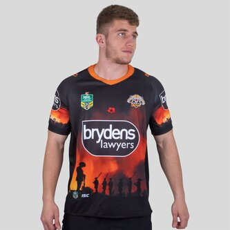 Wests Tigers NRL 2018 Anzac S/S Rugby Shirt