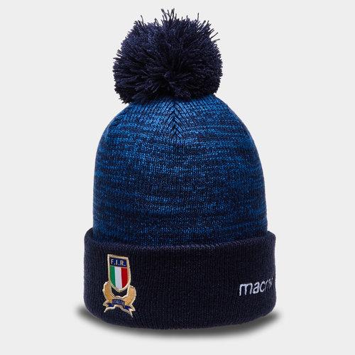 Italy 2018/19 Players Pom Pom Rugby Beanie