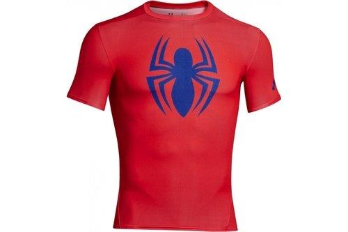 HeatGear Junior Alter Ego Compression Short Sleeve Top - Spiderman