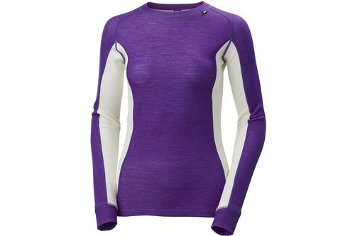 WARM Womens Ice Crew Long Sleeved Top - Panelled