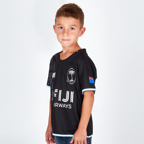 Fiji 2018/19 Kids Alternate S/S Replica Rugby Shirt