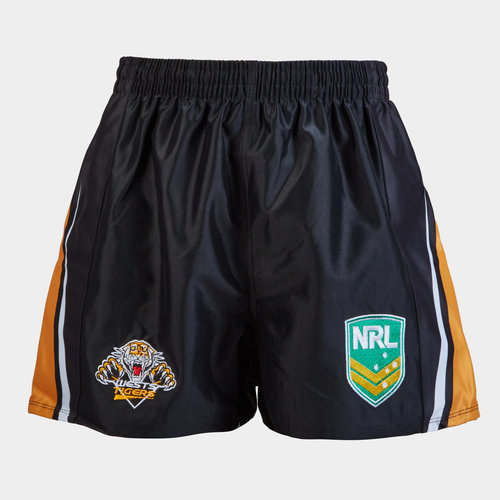 Wests Tigers NRL Youth Supporters Rugby Shorts