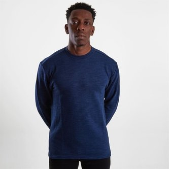 Terry Marble Melange Crew Sweatshirt
