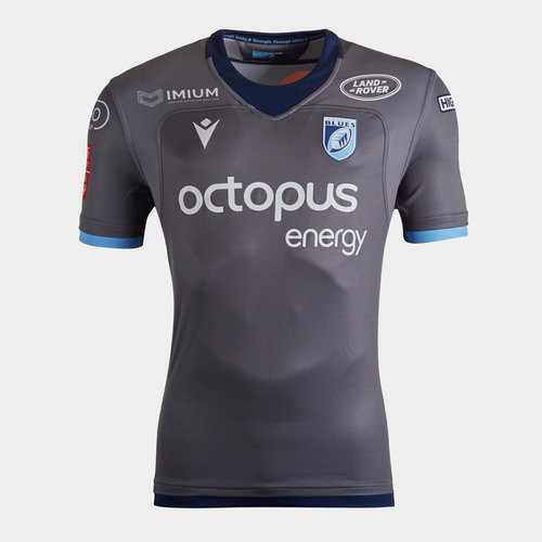 Cardiff Blues 2019/20 Kids Alternate S/S Replica Rugby Shirt