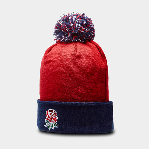 England 2019/20 Acrylic Rugby Bobble Hat