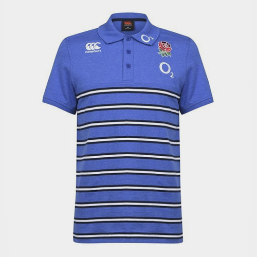 Canterbury Mens England 2019//20 Cotton Pique Rugby Polo T-Shirt Top Grey