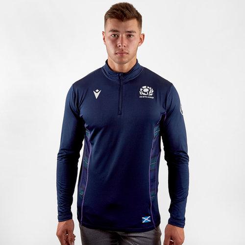 Scotland 2019/20 Players 1/4 Zip Rugby Jacket