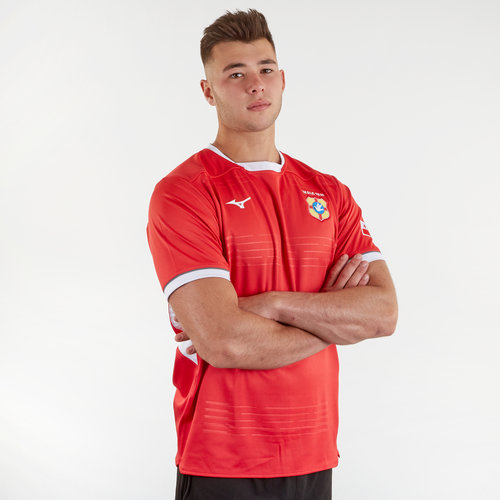 Tonga 2019/20 Home Pro S/S Rugby Shirt
