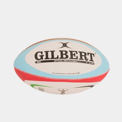 Harlequins Midi Replica Rugby Ball