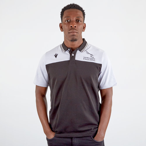 Newcastle Falcons 2019/20 Players Travel Rugby Polo Shirt