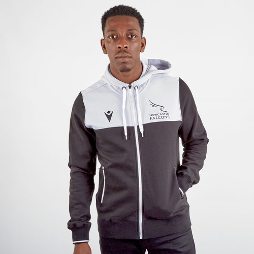 Newcastle Falcons 2019/20 Full Zip Travel Hooded Rugby Sweat