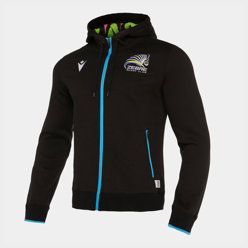 Zebre 2019/20 Players Travel Hooded Rugby Sweat