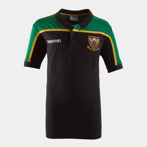 Northampton Saints 2018/19 Kids Travel Rugby Polo Shirt