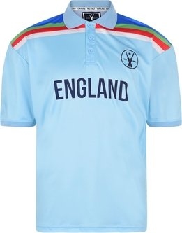 England Retro Cricket Polo Shirt Mens